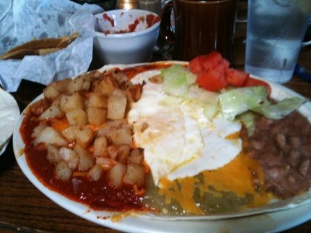 Ponderosa Eatery and Saloon huevos rancheros